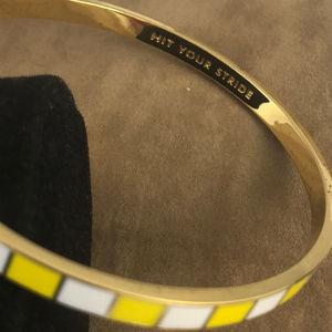 kate spade Jewelry - kate spade Yellow and White Bangle Bracelet